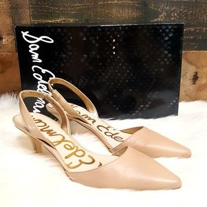 Sam Edelman Nude Orly Sling Back Leather Heels